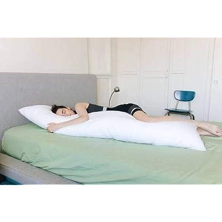 Bedding King Cotton Large Pillow (20x54 inch, White)