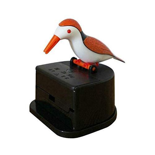 Vintagen Dispensador de Palillos de Dientes automático Caja de Palillos de pájaros pájaro Carpintero dispensador de Palillos de Dientes de Mesa Caja de Palillos de Dientes Caja de Almacenamiento