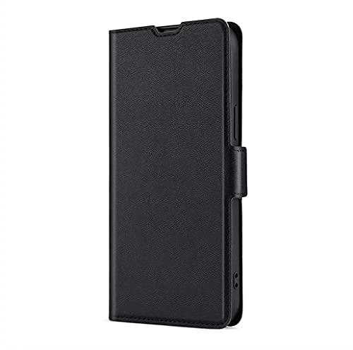 LINER Hülle für Xiaomi 11T Pro 5G/Xiaomi 11T 5G Handyhülle, Premium PU Leder Flip Brieftasche Schutzhülle mit Standfunktion/Kartenfach/Magnetisch Stoßfeste Lederhülle Ultra-dünn Klapphülle - Schwarz