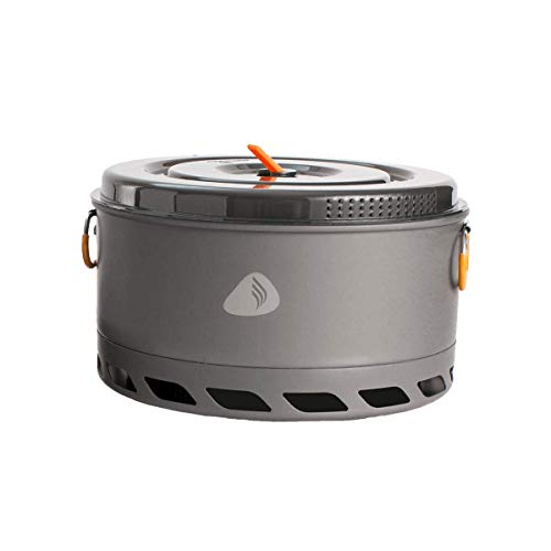 Jetboil 5-Liter FluxRing Camping Pot and Lid for Camp Cooking with Jetboil Backpacking Stoves