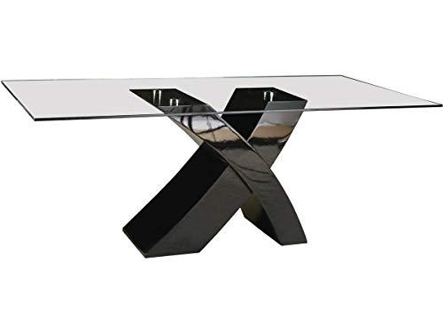 Tavolo da pranzo Mona - 200 x 90 x 75 cm - Nero