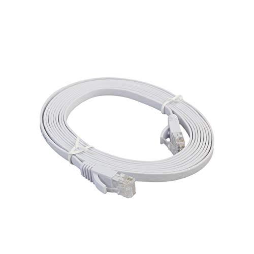 Color Yun Cable LAN de Red Ethernet Plano CAT6e, Cable de conexión Ethernet para computadora portátil de transmisión de Alta Velocidad para Oficina en casa