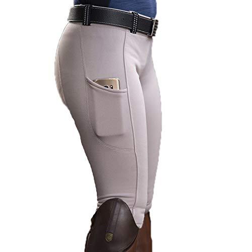 Poches de personnalité pour Femmes Pantalon Skinny de Couleur Unie Pantalon de Camping en Plein air Pantalon d'équitation de Cyclisme