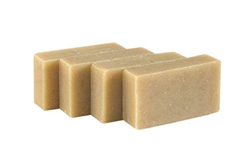 Barre de savon Facial - Avoine, Lavande et Romarin (4 Bar Set)– Barre Artisanal bio faite à la main pour la peau sensible. Savon corporel hydratant pour la peau et le visage. Avec beurre de karité, huile de coco, glycérine