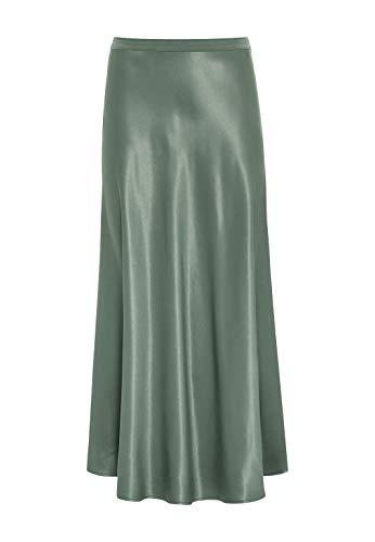 HALLHUBER Midirock aus Satin ausgestellter Schnitt seegrün, 34