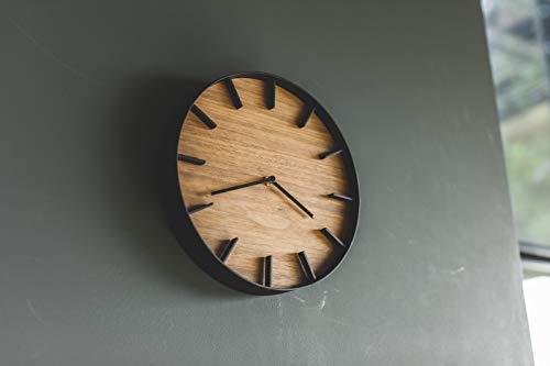 山崎実業(Yamazaki)掛け時計ブラウン約W26.5XD26.5XH4.2cmRIN4108