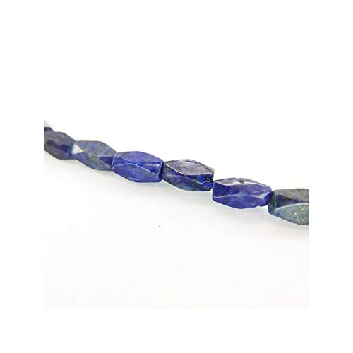 Mineral Import Hilo de Lapislazuli Cilindro Facetado 10x3mm