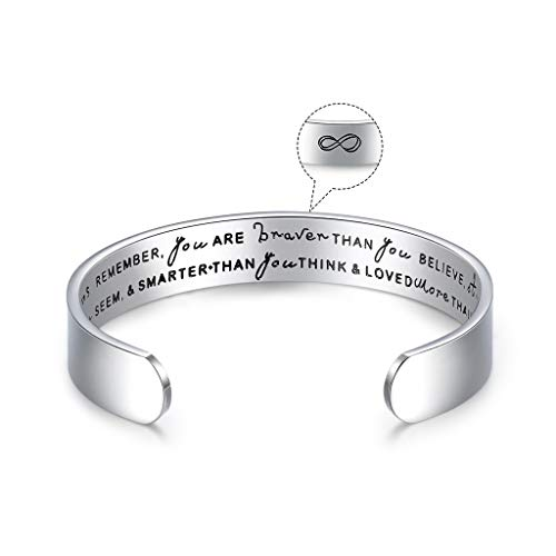 CERSLIMO Inspirational Friendship Gifts for Women Best Friend Bracelet Cuff...