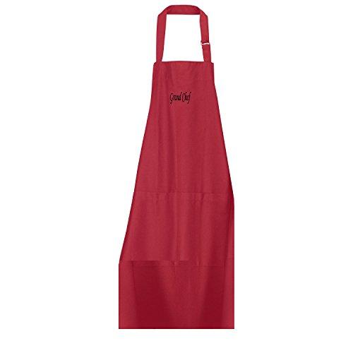 Winkler - Tablier de cuisine à poche Grand Chef – 75x102 cm – Protection 100% coton - Blouse adulte lavable – Sangle ajustable