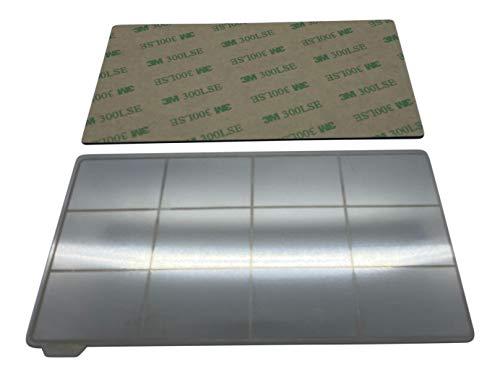 3DPLady - Magnetische flexible Federstahlblech Druckbettauflage für Resin 3D Drucker kompatibel für Elegoo Saturn/Sain Smart Kumitsu KL9 (192x120mm)