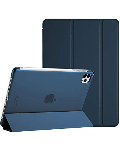 "ProCase iPad Pro 12.9 Case 4th Generation 2020 & 2018, [Support Apple Pencil 2 Charging] Slim Stand Hard Back Shell Smart Cover for iPad Pro 12.9"" 4th Gen 2020 / iPad Pro 12.9"" 3rd Gen 2018 –Navy"