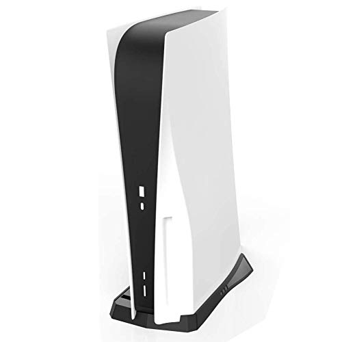 Vertical Stand Holder for PS5 Ultra HD Console with Built-in Cooling Vents and Non-Slip Feet for Sony Playstation 5 Ultra HD Console (CD-ROM Version)