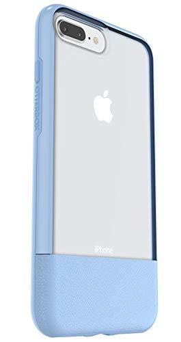 Otterbox Slim bundle, Pack Funda Anti Caídas Fina y Protector de Pantalla Cristal Templado, Trasera iPhone 8 Plus/7 Plus Azul Cielo, Color Transparente