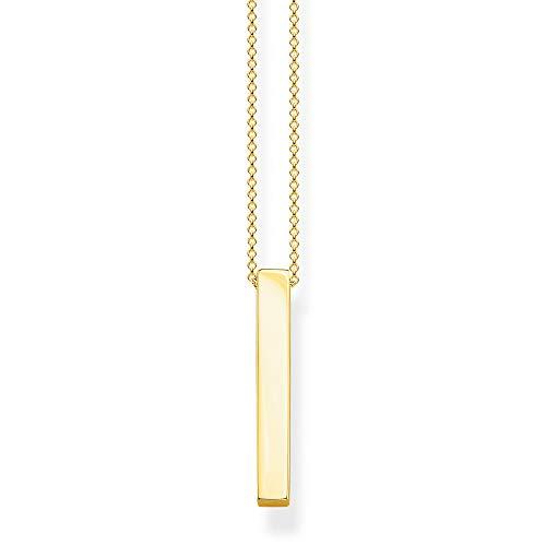 Thomas Sabo Damen-Kette Goldener Quader 925 Sterlingsilber gelbgold vergoldet KE1907-413-39-L45v