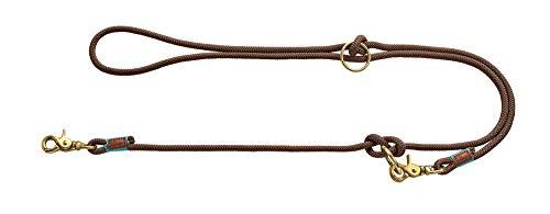 HUNTER OSS Verstellbare Führleine, Seil, Messing-Karabiner, maritim, 0, 8 x 200 cm, braun
