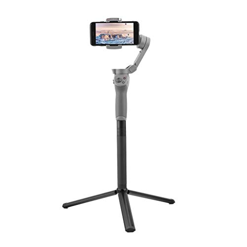 Fdrone Handheld Gimbal Selfie Stick Extension Rod + Tripod Mount Compatible with DJI OSMO Mobile 3 Red