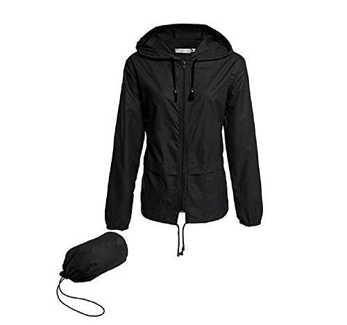 Vertvie Unisex Sportjack met capuchon voor dames en heren, ultradun, UV-bescherming, softshelljack, winddicht, waterdicht, sneldrogend