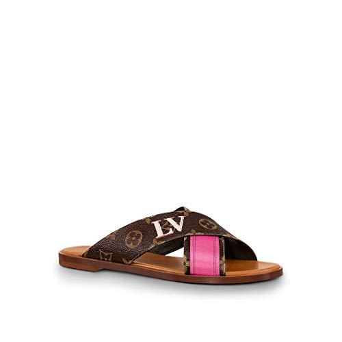 Louis Vuitton Panorama Flat Mule LV 36 / US 6 Brown