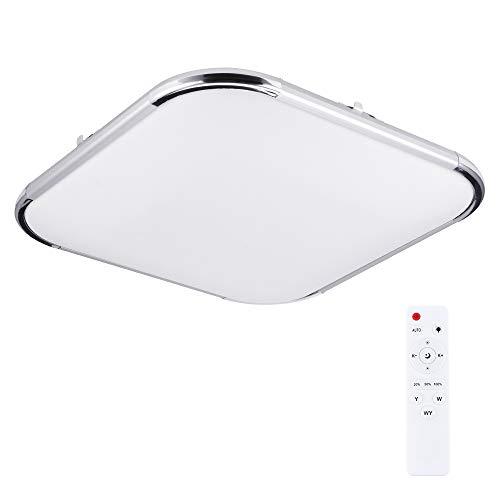 UNISOPH Luz de techo, 36W LED Luz de techo cuadrada 45 * 45cm Brillo Temperatura de color ajustable Ajustable para sala de estar dormitorio cocina hotel restaurante