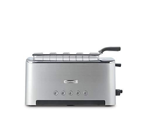 Kenwood Toaster Persona TTM610, Multi-Funktions Toaster mit Sandwichzange, in der Breite einstellbare Toastkammer, Auftau-Funktion, Stopp-Taste, Krümelschublade, Metallgehäuse, 1080 Watt, silber