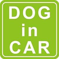 DOG in CARマグネット (グリーン)