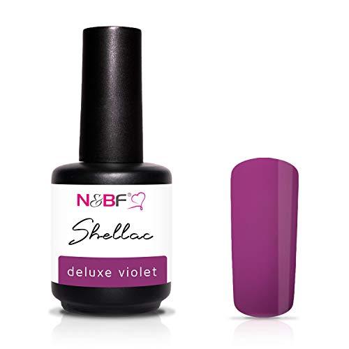 N&BF Shellac 12ml Deluxe Violet/Lila | LED + UV Gel Nagellack - kratzfest, splitterfest & extrem Haltbar | hochwertiger Gel Nail Polish für Nageldesign im Nagelstudio & Zuhause