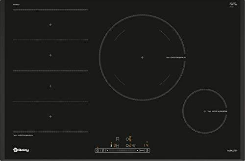 Balay 3EB989LU Placa de inducción de 80 cm de ancho, Biselada