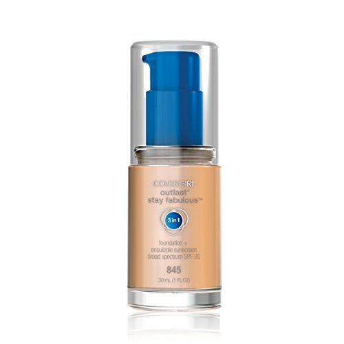 COVERGIRL Outlast All-Day Stay Fabulous 3-in-1 Foundation Warm Beige, 1 oz (packaging may vary)