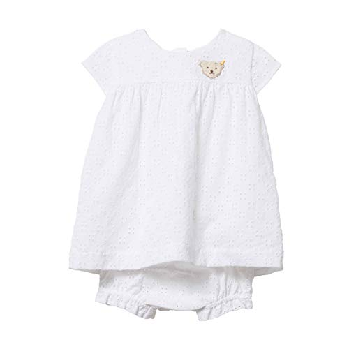 Steiff Mädchen Baby Kleid mit Höschen Weiss (100) 80