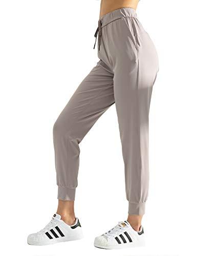 AJISAI Women's Joggers Pants Drawstring Running Sweatpants with Pockets Lounge Wear Cloud S