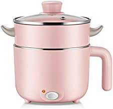 DIAOD Mini Portable Electric Multi Rice Cooker 1.2L Electric Meals Heating Pot Mini Hot Pot with Stainless Steel Inner