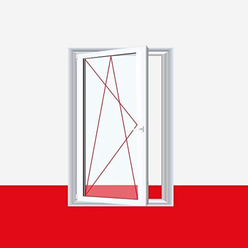 Kunststofffenster Badfenster Ornament Chinchilla Weiss, Anschlag:DIN Rechts, BxH:600x600 (60x60 cm), Glas:3-Fach