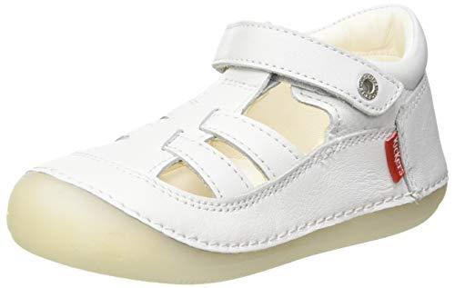 Kickers SUSHY, Zapatos Planos Mary Jane Bebé-Niñas, Blanc, 21 EU