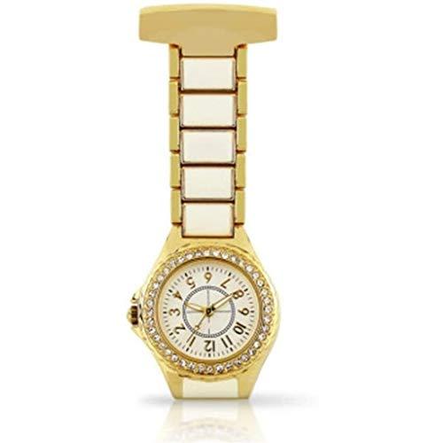 KSW_KKW Regalo del día del Reloj de Bolsillo del Pecho de la Cadena for Mujer del Reloj de la Enfermera del Clip Reloj de la Enfermera médica Enfermera Reloj Colgante Broche de la Enfermera del Reloj