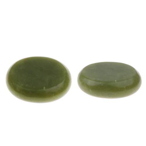 P Prettyia Piedra de Masaje Caliente de Jade, Masaje de Espalda Piedras de Palma de Bolsillo Paquete de Alivio Del Estrés de 2, 2.0 X 2.4 Pulgadas