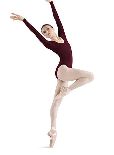 Bloch Dance Premier Damen-Gymnastikanzug, langärmelig, Damen, burgunderfarben, Large