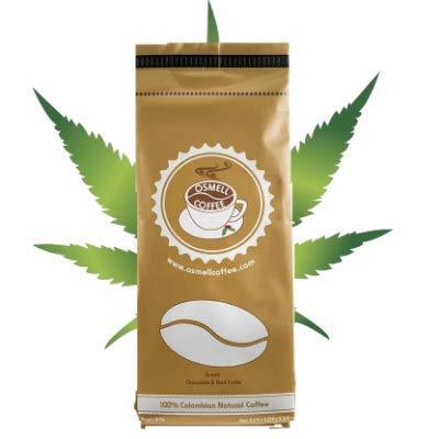 Hemp Coffee 100% Colombian Coffee Blend With 100% Natural Hemp (THC Free). Ground Coffee, Artisan Coffee Roasters, DARK ROAST (HEMP Coffee, 2 LB)