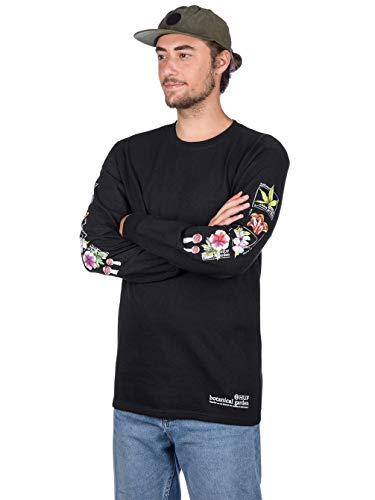 HUF Herren Langarmshirt Botanical Garden Long Sleeve T-Shirt