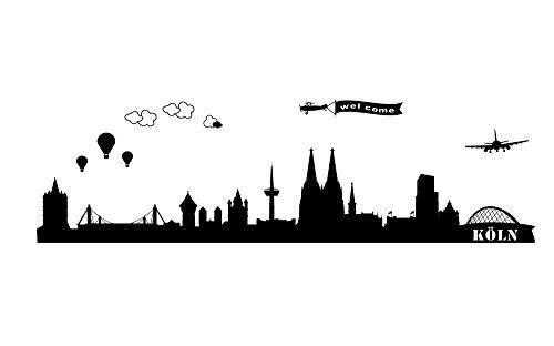 Unbekannt Wandtattoo wandaufkleber Köln Cologne wst01 motiv1 (Minigröße gedruckt auf transparente Folie)