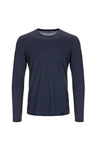Super.natural Tee-shirt Manches Longues pour Hommes, Laine mérinos, M BASE LS 175, Taille: M, Couleur: Bleu foncé
