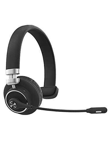 Willful M91 Bluetooth Headset Wireless Headset with Microphone (Flexible Noise Cancelling Mic) Clear Sound Comfortable Wearing, Headset for Office Home Business Trucker Drivers