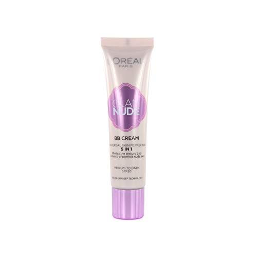 L'Oreal Paris Glam Nude BB Cream, Moyen à foncé, 30 ml