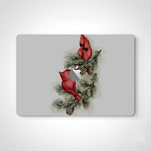 Mac Laptop Skin Sticker Cardinal Red Bird with Bells Skin Stickers for Laptops for MacBook Air 13' Pro 13'/15'/16' 2008-2020 Version Laptop Keyboard Decal Sticker