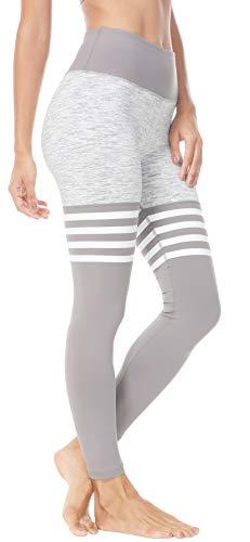 QUEENIEKE - Yoga-Hosen für Damen in Grau/Weiß, Größe L