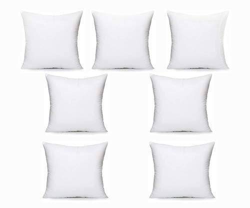 Iyan Soft Furnishing Set of 7 75cm x 75cm Cushion Pad Stuffer Pillow - Cushion Inserts Square Polyester Hollowfibre - 30 x 30 Inch MADE IN UK (Pack of 7)