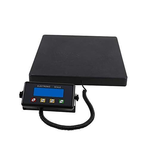 Báscula electrónica digital para paquetes de 150 kg Báscula de plataforma de pesaje de precisión de 100 kg para báscula de plataforma de tienda comercial industrial (tamaño: 100 kg / 5 g) Básculas de