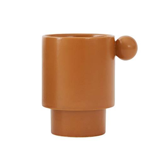 OYOY 1101055 Vaas Cilindervorm Steen Bruin – Vazen (Cilindervormige vaas, Steen, Bruin, Mate, Bruin, Tafel)