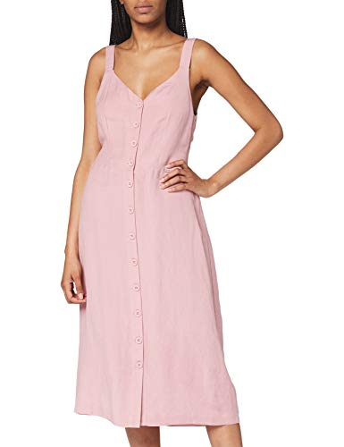 Superdry Eden Linen Dress Vestido, Rosa (Soft Pink 10r), M (Talla del Fabricante:12) para Mujer