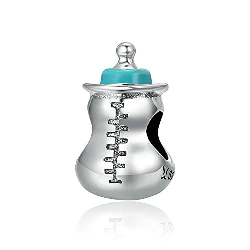 925 Sterling Silber Süße Schnuller Milchflasche Baumeln Charme, Klare Cz Fit Original Armband Anhänger für Mädchen Baby Schmuck charm