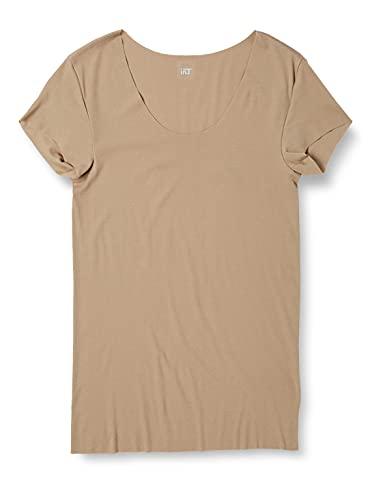 [グンゼ] インナーシャツ YG Tシャツ専用 in.T(インティー) CUT OFFシリーズ クルーネックTシャツ 汗取りパッド付 メンズ クリアベージュ 日本 M (日本サイズM相当)